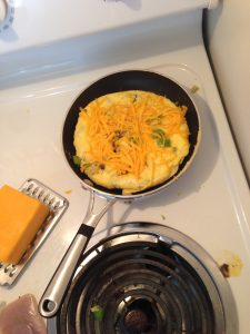 Omelet cheese