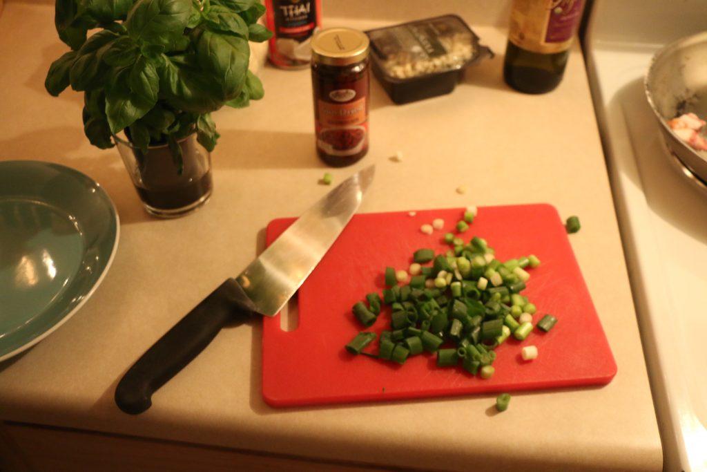 4 green o chopped
