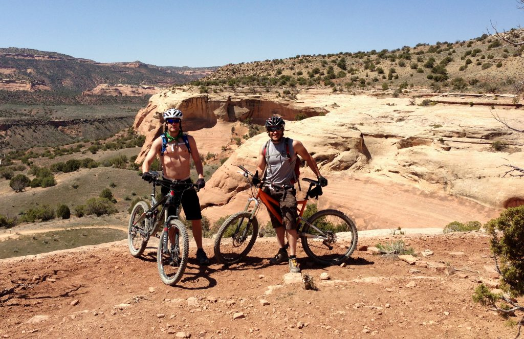 Travis Biking in Moab 2013